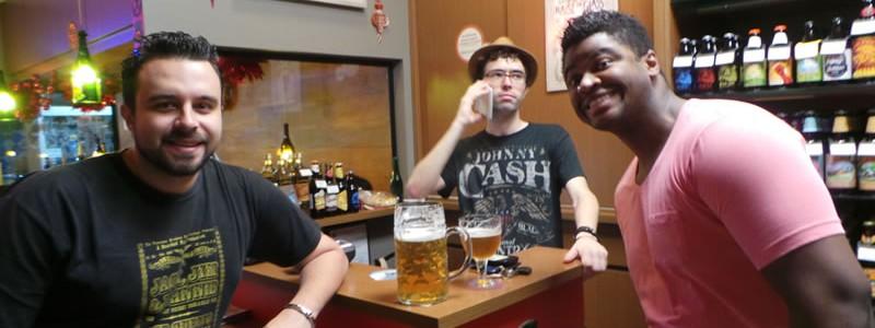 Fábio, Vitão e Renatão.